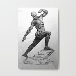 Pure muscle Metal Print
