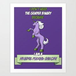 Majestic Fucking Unicorn (In purple!) Art Print