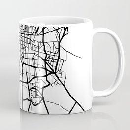 TEHRAN IRAN BLACK CITY STREET MAP ART Coffee Mug