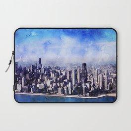 Chicago, Illinois Panoramic Art Laptop Sleeve