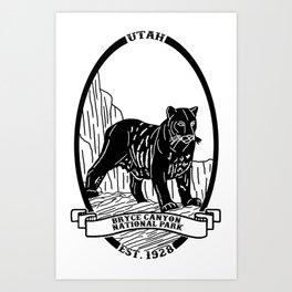 Bryce Canyon Emblem Art Print