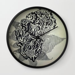 Ink Doodle Graphic Design Wall Clock
