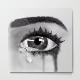Crying Metal Print