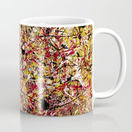 TENDER SUN - Jackosn Pollock style drip painting art design, dripping design, splash patern modern art Coffee Mug