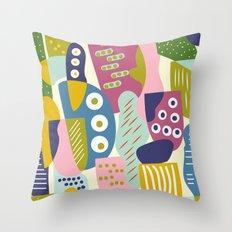 Colourful print Throw Pillow