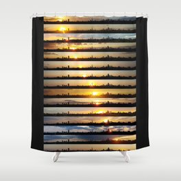 London Sunsets 001: Science Shower Curtain