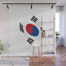 flag of south korea 2 -korea,asia, 서울특별시,부산광역시, 한국,seoul Wall Mural