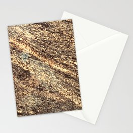 Butter Pecan Marble With Coffee Bean Veins Stationery Cards