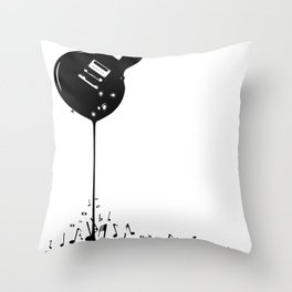 Bubbling Musical Notes Throw Pillow