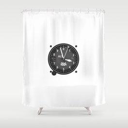 Altimeter Flight Instruments Shower Curtain