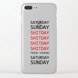 My week in short Clear iPhone Case