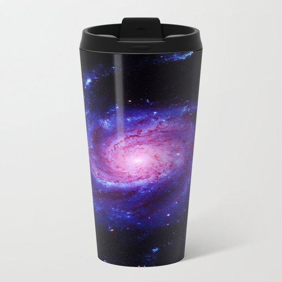 Spiral gAlAxy : Purple Blue Metal Travel Mug