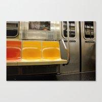 subway Canvas Prints featuring Subway by Cara Raye
