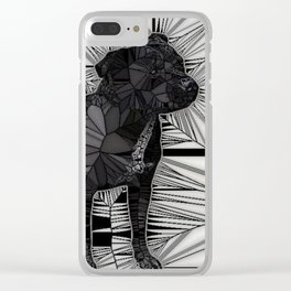 Staffordshire Bull Terrier Mosaic Clear iPhone Case