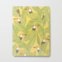 Summer With Toucan Metal Print