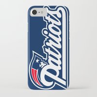 patriots iPhone & iPod Cases featuring Patriots Logo  by Happy Positivity