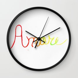 Amore Watercolor Wall Clock