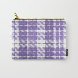 Ultra Violet Tartan Pattern Carry-All Pouch