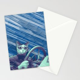 Driver cat Stationery Cards