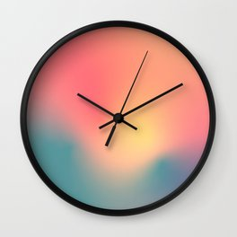 Abstract Gradient No. 6 (Sunset) Wall Clock