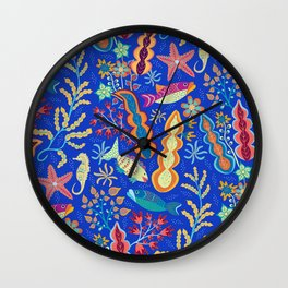 Undersea Garden Wall Clock