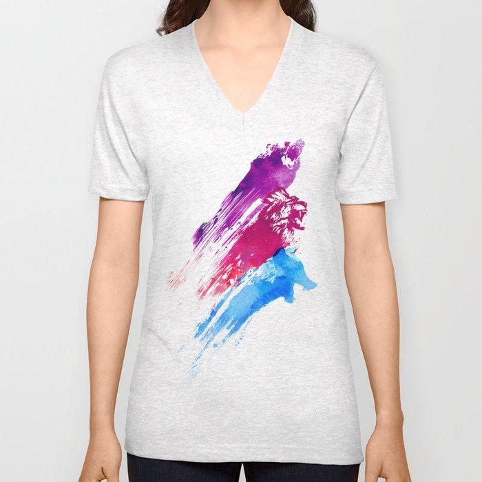 Wild colours Unisex V-Neck