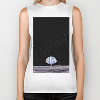 neil gaiman Biker Tanks featuring Neil Armstrong by Enrico Barin Guarise