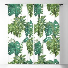 A Pattern of Plants Blackout Curtain