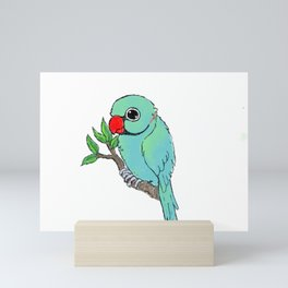 Adorable Indian Ringneck Parakeet Mini Art Print