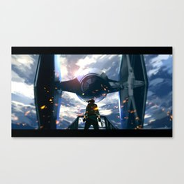 Jyn VS TIE Fighter Canvas Print