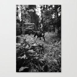 Test-Foto 24 // Joni und Wolfi Canvas Print