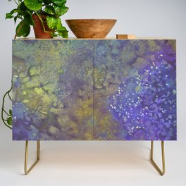 Abstract Watercolor #3 Credenza