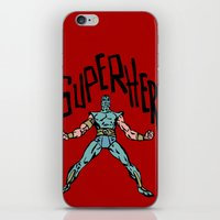 superhero iPhone & iPod Skins featuring SuperHero by Logan_J