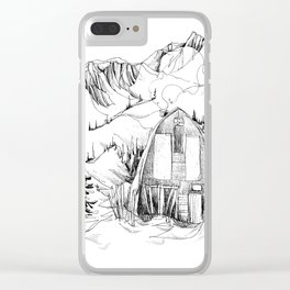 Wendy Thompson Hut - Single Line Clear iPhone Case