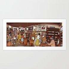 Friends at the Bar Art Print