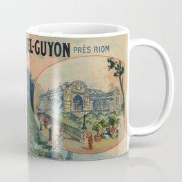 Vintage Auvergne French travel advertising Coffee Mug