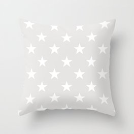 Stars (White/Platinum) Throw Pillow