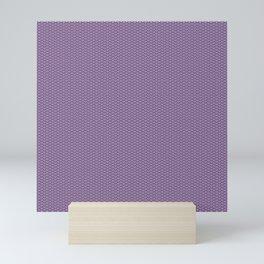 Dark Lilac Seigaiha Pattern Mini Art Print