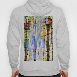Winter Woods Abstract Hoody