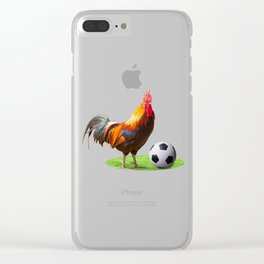 Cock Soccer Clear iPhone Case