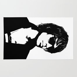 Julian Casablancas The Strokes Black And White Rug