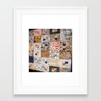 quilt Framed Art Prints featuring Quilt by Shenreice