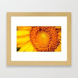 In your face yellow Framed Art Print