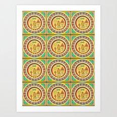 Hieroglyphic Art Print
