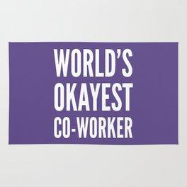 World's Okayest Co-worker (Ultra Violet) Rug
