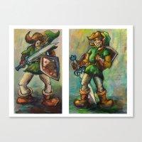the legend of zelda Canvas Prints featuring Zelda by Matt Tanzi