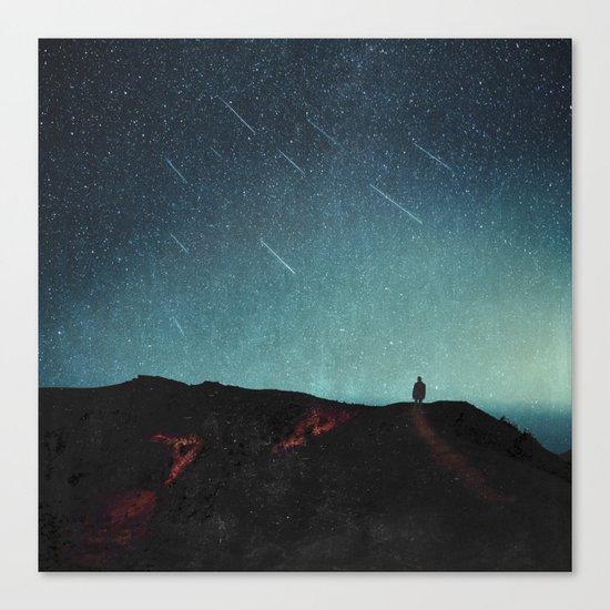 night of falling stars Canvas Print