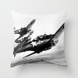 Vintage fighters Throw Pillow