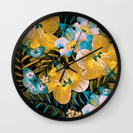 Golden Vintage Aloha Wall Clock