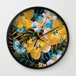 Golden Vintage Aloha Wall Clock